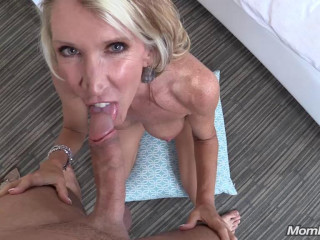 45 year old fit cougar milf's first porn