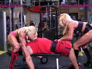 Lisa Cross & Muscle Milf - Gym Bully