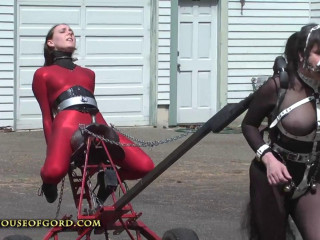 House of Gord -  Ponygirl Powered Saddle Fucking Machine