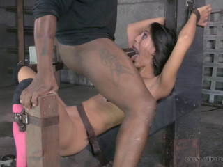 Stunning Lyla Storm belt bound and ANALLY pounded