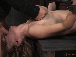 Beautiful Mona Wales chained in old school plow me stance and nailed into squirting orgasms by BBC!
