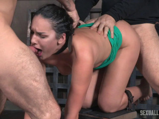 Paisley Parker is ruined by wood from both completes while downright vulnerable and cumming!