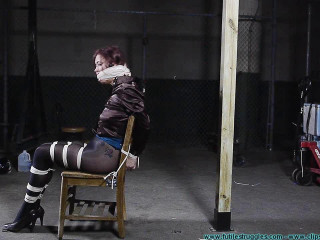 Riley is Captured Belt Cropped and Hog tied 2part - BDSM, Humiliation, Torment HD 720p