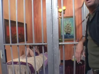 Big-titted Prisoner Gets Smashed By Guard