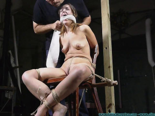 Nude Chair Tie for Rachel 2 part - Extreme, Bondage, Caning