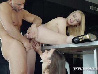 Birthday Threesome with Debutants Alyssa Reece and Amaris XXX 1080p