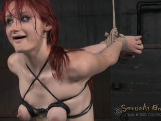 Redheaded sybian saddle slut Violet Monroe