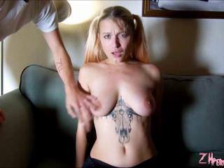 Rough Tit Punching And Mauling