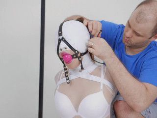 Bizarre restrain bondage