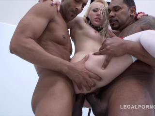Teen slut in hard gangbang