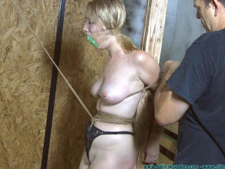 Allegra HogCuffed, Pubes Chained, then Pubes Tied  - BDSM, Humiliation, Torment HD 720p