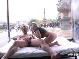 Blonde Katie Hill Luving Her First Time Pummel In Public