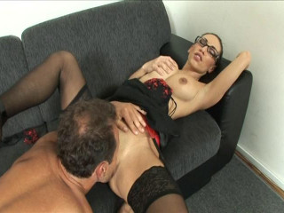 Combat Zone - Brunette Babe Sucks Dick in the Office
