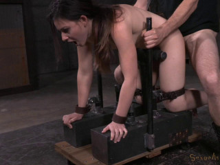 Amy Faye Arched Over and Corded Doggy-style