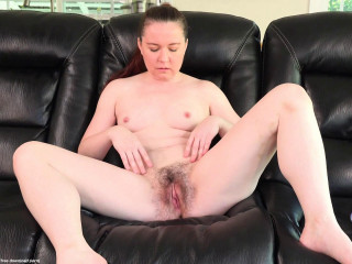 Hairy mom Annabelle Lee loves public flashing and playing with her hairy