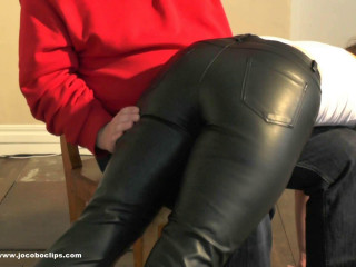 Leather Trousers Smacking