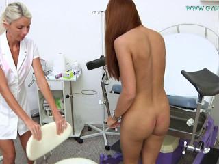 Ornella (19 years damsel gynecology exam)