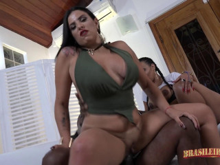 Round Brasilian Booties Assfucked By Huge Cocks