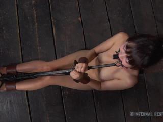 Metal Bondage For Sexy Slave Marica Hase