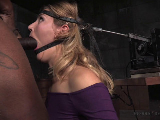 Unstoppable Mona Wales get the BaRS experience on the blowjob machine