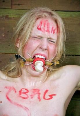 Blond beast in hot BDSM