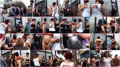 Folsom Street Fair Public Humiliation - Group FemDom Punishment