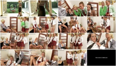 Naughty Schoolgirls At St. Nymphian's Punished In Puddles Of Piss For Lessons Of Love