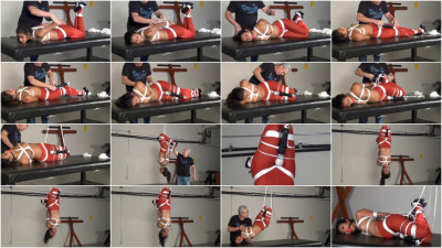 Drea Hogtied Pantyhose Inversion With Forced Orgasm