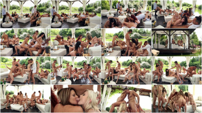 Luxury Orgy with 9 girls