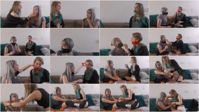 Violet Haze and Luna Grey - Gag testing after sleepover - Full HD 1080p.