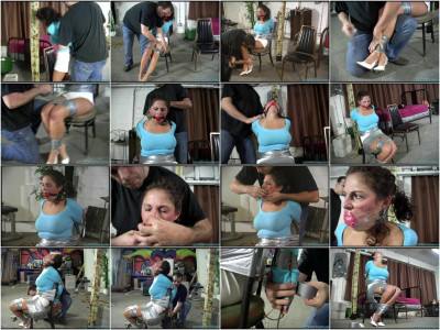 Breastbound, Blindfolded, Hairtied, Gagged Part 1