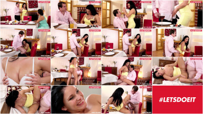 Cute brunette Lucia Denvile has a thing for her old guy
