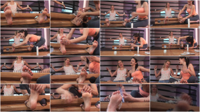 Dulce Tickled In Stocks - Ariel and Dulce - HD 720p