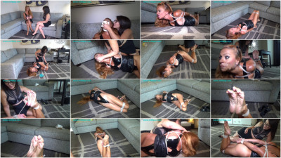 Fem domme gets bound & humiliated