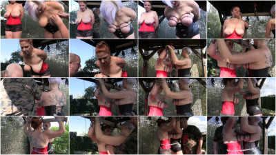 New Hard Outdoor Tit Adventure for Bettine & Nova Pink