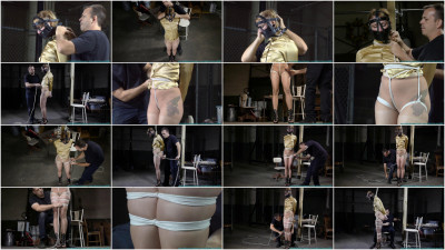 Huge Gags, Drool, and a Reverse Prayer Hogtie for Moxie - Scene 1 - HD 720p