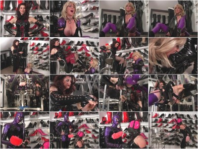 one boots english - (GwenMedia - Rubber Boot Slut)