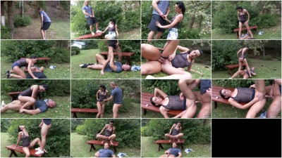 Pissing Action In The Garden