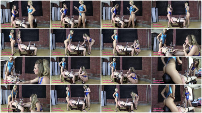 Alexa Rydell & Harley TENS Limit Tested While Facesat And Milked - play, new, pain, heels