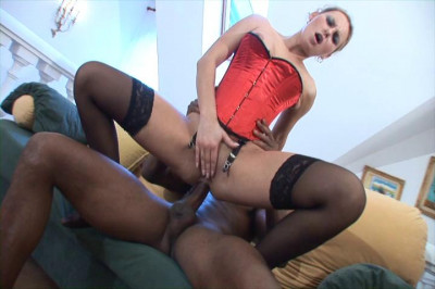 Download Blond Babe Patricia Sits On A Black Cock