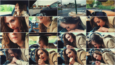 Piper Blush — Quickie BJ in the car! FHD