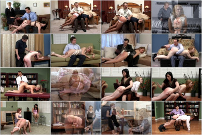 The knee spanking and then a stringent flogging while Amanda is nude and well bound