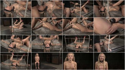 Thin blindfolded blonde Odette Delacroix bound down roughly fucked epic deepthroat! (2015)