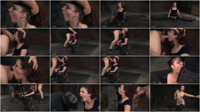 Curly haired newbie Endza bound into splits facefucked drooling orgasms! (2015)