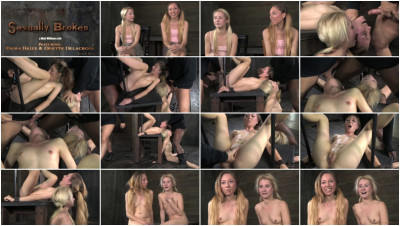 Two blonde pixies Odette Delacroix and Emma Haize 2014