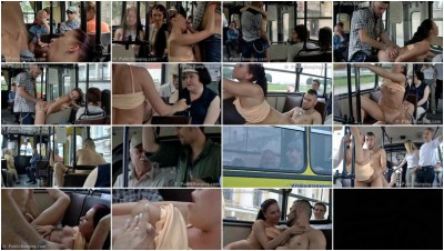 Young couple fucking in the bus