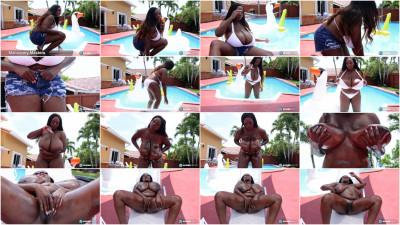 Mahogany Masters Oiled Swimsuit Babe