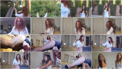 Neighbor Girl Spanking - Jenna Sativa & Audrey Tate