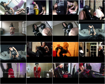 Mistress Blackdiamoond Strapon, Fisting, Latex Ballbusting Part 2