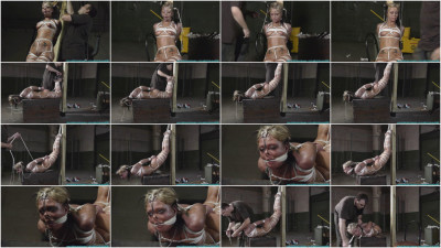 Bondage, domination and hogtie for very horny blonde part 2 Full HD
